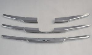 China Chrome Line Front Grill Cover Trim For Toyota Hilux Vigo Champ mk7 2012 Pick Up on sale
