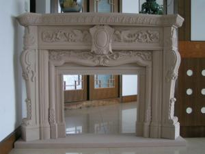 China Delicate Carved Fireplace, Indoor Fireplace Mental for Decoration on sale