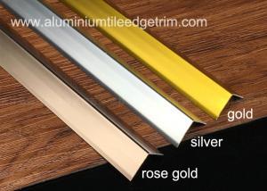 China Sleek Anodized Aluminium Corner Guard Wall Tile Corner Trim90 Degree Angle on sale
