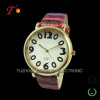 Colorful nylon and fabric watch popular wholesale festival items