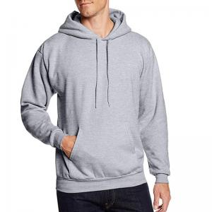 China Men 300grams 100% cotton soft jersey fleece athletic pullover hoodie sport sweater apparel manufacturer on sale