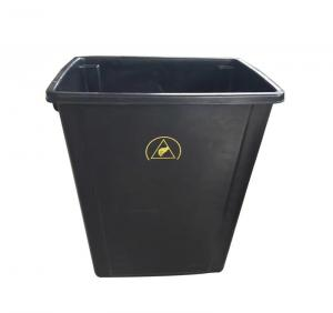 China Lids Style Permanent ESD Trash Cans / Waste Basket Color Black w/ESD Symbol on sale