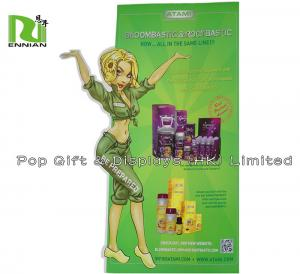 China Special Shape Cardboard Stand Up Display For Children With Die Cut on sale