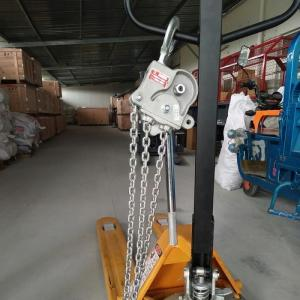 China 7.5 KN Overhead Line Stringing Equipment / Aluminium Alloy Lever Chain Hoist on sale