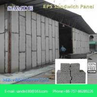 China Waterproof/dampproof cement composite sandwich wall panel/painting commercial builiding on sale