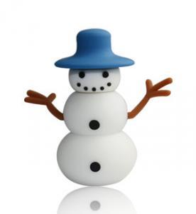 China Best Cute Snowman Cartoon USB Flash Drive 1GB / Custom Logo USB Flash Drives on sale