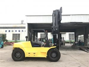 China forklift specification 10 ton capacity diesel forklift with fork positioner on sale