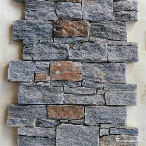China Natural Stone Wall Decorative Ledge Stone Building Material With Cement Backed on sale