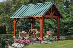 China nice adorable fresh forestly awesome green outdoor pavilion plan with link alpine pavilion on sale