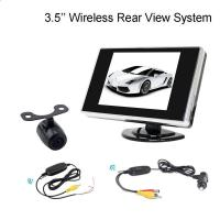2.4G Wireless 3.5 Inch LCD dashboard monitor With Reversing Bakcup Camera