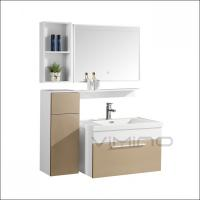 China Modern PVC Bathroom Cabinet With Light Single Sink Bathroom Vanity from Zhejiang Province China on sale