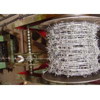 Zinc Plating Barbed Tape Wire , Steel Barbed Wire Roll 1.0-3.5mm Dia