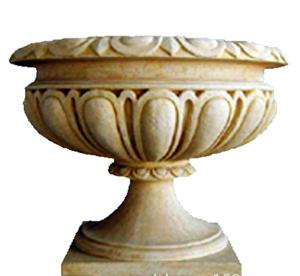 China Custom Color Cast Iron Flower Pots Urn Planter For Landscape / Theme Park on sale