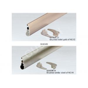 China T5 T6 6063 Aluminium Channel Profiles , Curtain Rail System Aluminum Channel Shapes Weather Resistance on sale