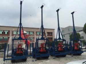 China Small Diamond Drill Rig Crawler Mounted 100 Meters Seperated Water Pump on sale