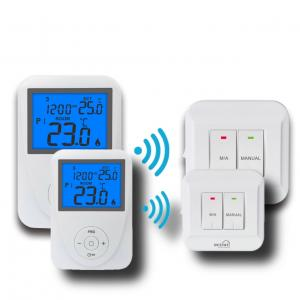 China Wireless Remote Sensor Controlled Thermostat / Domestic Programmable Thermostat on sale