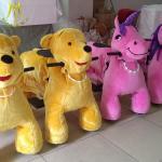 Hansel cheap amusement rides for party motorized plush riding animals