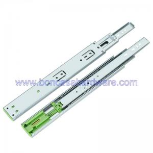 China Stainless Steel Soft Close Kitchen Cabinet Ball Bearing Runners Zinc Plated on sale
