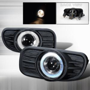 China Jeep 99-04 Grand Cherokee Halo Projector Smoke Fog Lights w/ Bulbs+Switch+Wire on sale