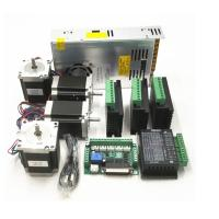 CNC Router Kit TB6600 4.0A Stepper Motor Driver + Nema23 255OZ.IN + 5 Axis Interface Board + Power Supply