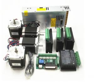 China CNC Router Kit TB6600 4.0A Stepper Motor Driver + Nema23 255OZ.IN + 5 Axis Interface Board + Power Supply on sale