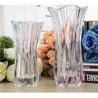 Royal Glass Crystal Transparent Glass Vase Flower Decoration Machine Press