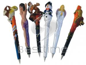 China Cute cartoon character Plastic Ball Pen / Pens passed SEDEX audits for kids MT2055 on sale