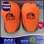 Orange Cotton Unisex Baseball Caps Fitted Flashing Camouflage Patterns Available
