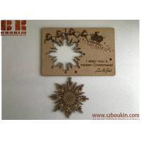 Christmas cards Personalised wooden greeting cards Wood snowflake card Christmas gift