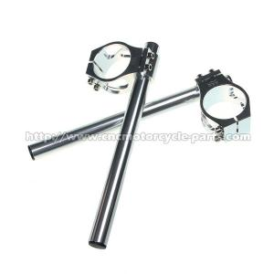China ZX7R ZX9R Clip On Custom Motorcycle Handlebars 52mm Size CNC Machining on sale