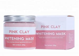 China Oil Control Pink Clay Mud Mask , Whitening Mud Mask For Deeply Cleansing on sale