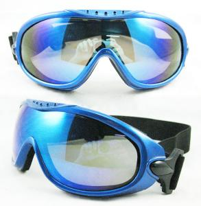 China Helmet Compatible Blue UV400 protection Motorcycle Goggles Glasses, motorbike glasses on sale