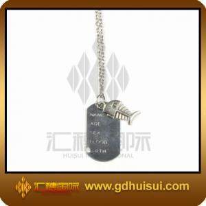 China zinc alloy army dog tags on sale
