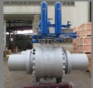 China API 6D Trunnion Ball Valves, Gas Over Oil Actuated on sale