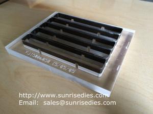 China Plexiglass steel rule dies making, acrylic substrate steel rule foam cutting dies on sale