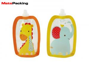 China BPA Free Spout Pouch Refillable Baby Food Squeeze Pouch With Spout Special Shape on sale