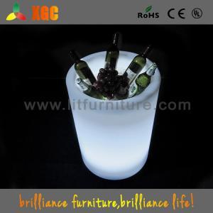 China Le club/barres/espace libre de partie ont illuminé à télécommande infrarouge en plastique de seau à glace on sale