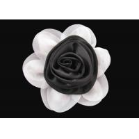Brilliant Black and White Fabric Flower Wrist Corsage Lovely for Dress And Hat