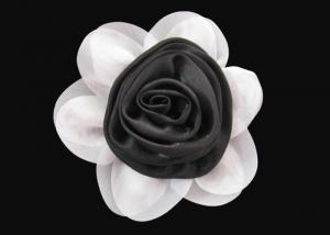 China Brilliant Black and White Fabric Flower Wrist Corsage Lovely for Dress And Hat on sale