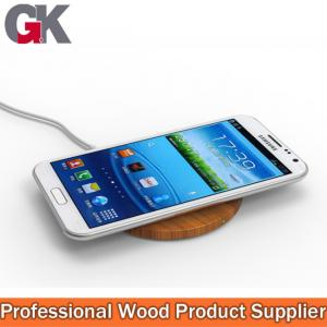 China wooden wireless chargers, cordless cell phone charger on sale