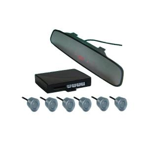 China 6 Sensors System Rearview Mirror Led Display Parking Sensor Car Electronics Products on sale