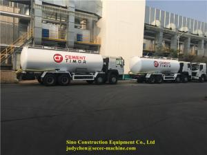 China 40m3 Bulk Cement Transportation Truck ZZ1317N5267W 371hp Bulk Powder Tank Truck on sale