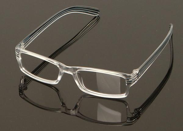 Clear Plastic Rectangular Eyeglass Frames Super Light For Oblong ...