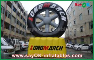 China PVC Outdoor Advertising Inflatable Tire Model With Customized Logo Printing on sale