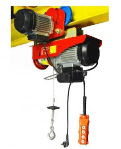 China Low Noise Mini Electric Wire Hoist With Moving Trolley Single Or Double Hook on sale