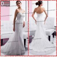 Elegant white Lace Sweetheart Neckline Zip Back Mermaid Wedding Dress Patterns Free