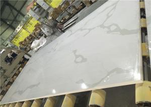 China Calacatta White Quartz Artificial Stone Calcutta Quartz Kitchen Stone Big Slab on sale