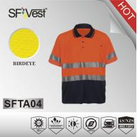 Hi-viz men casual shirt color combination polo shirt with chest pocket