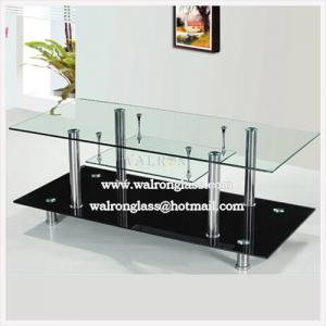 China Fashion Style TV Cabinet/Stand with Clear Toughened and Black Painted Tempered Glass on sale