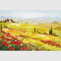 China Decorative Scenery Tuscany Painting Acrylic Hand Painted Modern Art Painting on sale